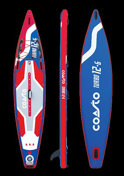 SUP Coasto Turbo 12-6 : Vue de face - profil - dos